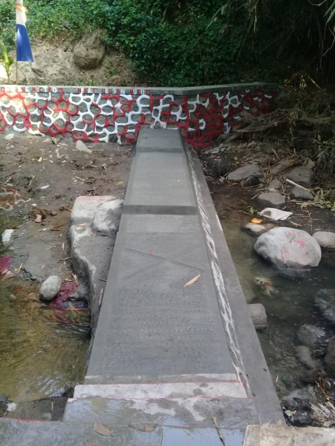Image : Realisasi Kegiatan Pembangunan 2019 Dam Pengaman Jembatan Bungasari